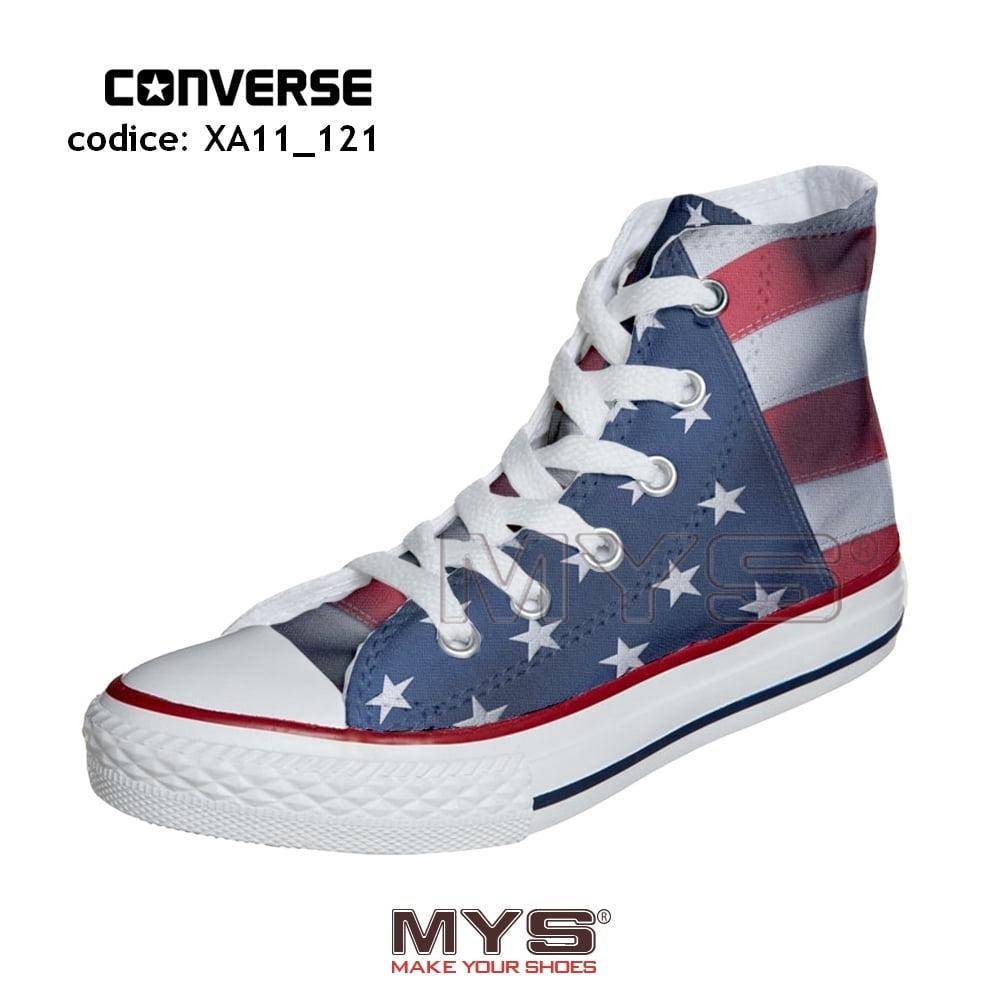 Converse ALL STAR Hi personalizzate BANDIERA AMERICANA (USA) - cod. XA11_121